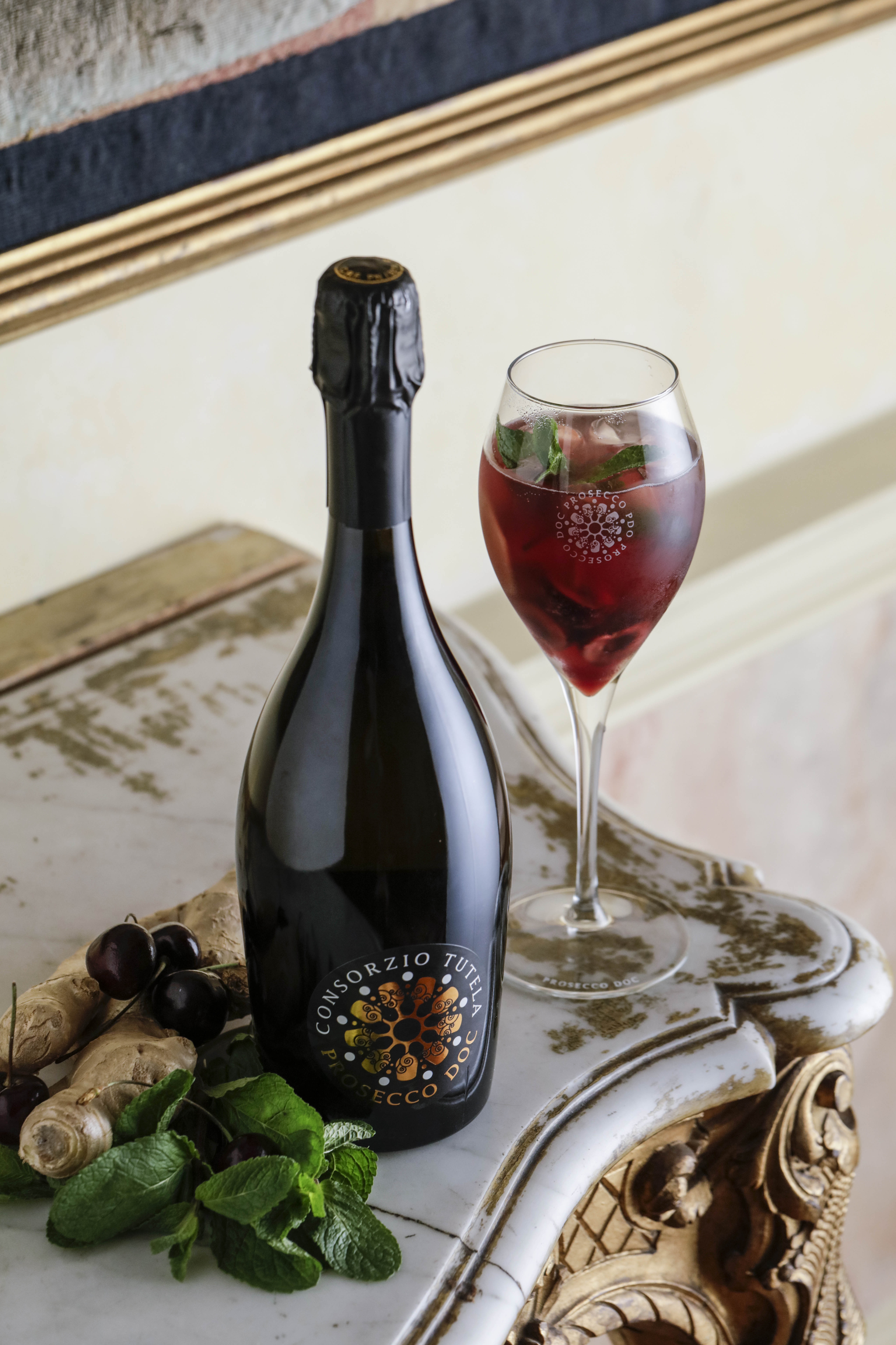 CHERRY AND PROSECCO DOC SPRITZ